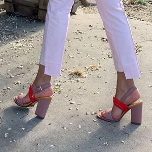 Ted Baker Block heel leather sandals SIZE 37.5